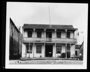 Primary view of object titled '[Photograph of the Kuenemann Store]'.