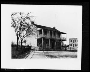 Primary view of object titled '[Photograph of the First Court House]'.