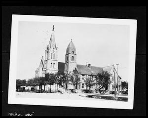 Primary view of object titled '[Photograph of St. Mary's Catholic Church]'.