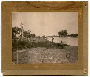 Primary view of object titled '[Photograph of Campers at the Llano River]'.