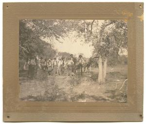 [Photograph of Campers at the Llano River]