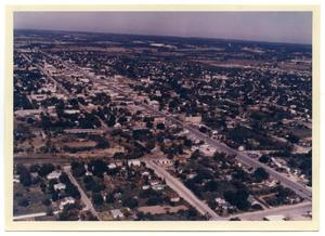 Primary view of object titled '[Aerial View of Fredericksburg]'.