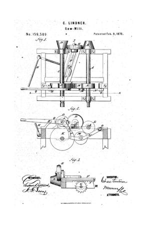 Primary view of Improvement in Saw-Mills