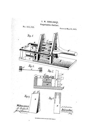 Primary view of object titled 'Improvement in Vegetable-Cutters.'.