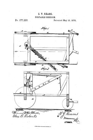 Primary view of object titled 'Improvement in Portable Derricks.'.