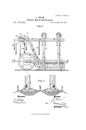 Primary view of object titled 'Improvement in Cotton-Worm Destroyers.'.