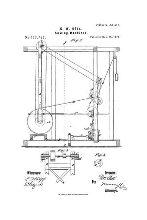 Primary view of object titled 'Improvement in Sawing-Machines.'.