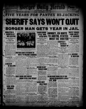 Primary view of object titled 'Borger Daily Herald (Borger, Tex.), Vol. 1, No. 140, Ed. 1 Thursday, May 5, 1927'.