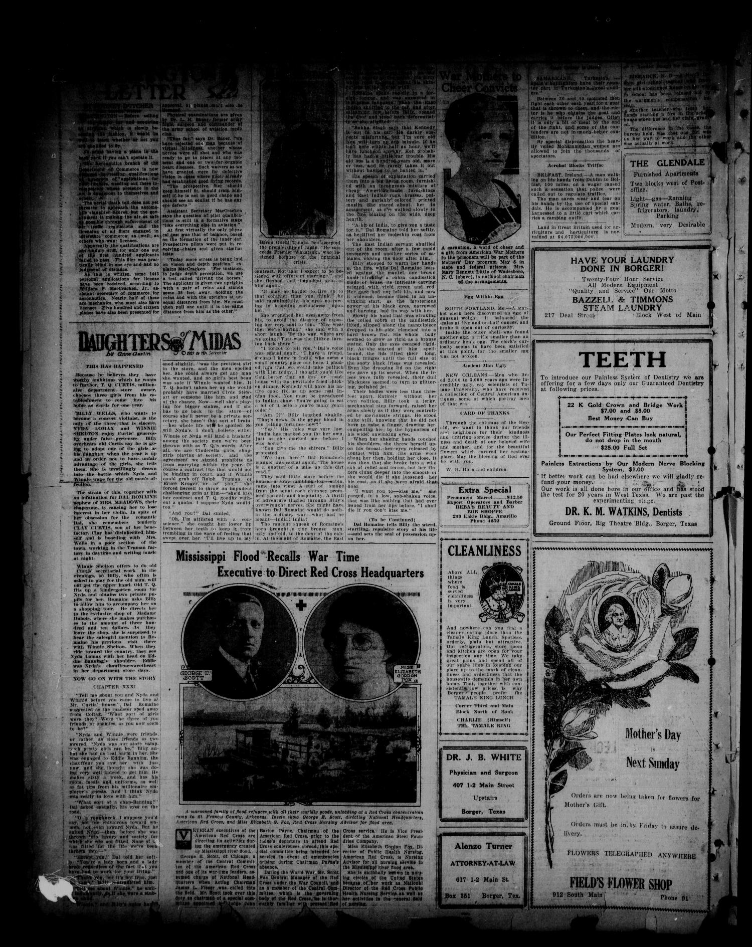 Borger Daily Herald (Borger, Tex.), Vol. 1, No. 140, Ed. 1 Thursday, May 5, 1927                                                                                                      [Sequence #]: 2 of 6