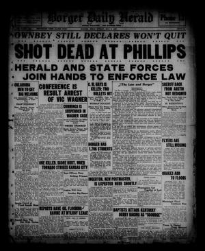 Primary view of object titled 'Borger Daily Herald (Borger, Tex.), Vol. 1, No. 142, Ed. 1 Sunday, May 8, 1927'.