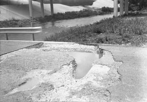 Primary view of object titled '[Erosion at Berry Creek Bridge]'.