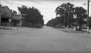 Primary view of object titled '[Brushy Street at Ninth Street  in Georgetown]'.