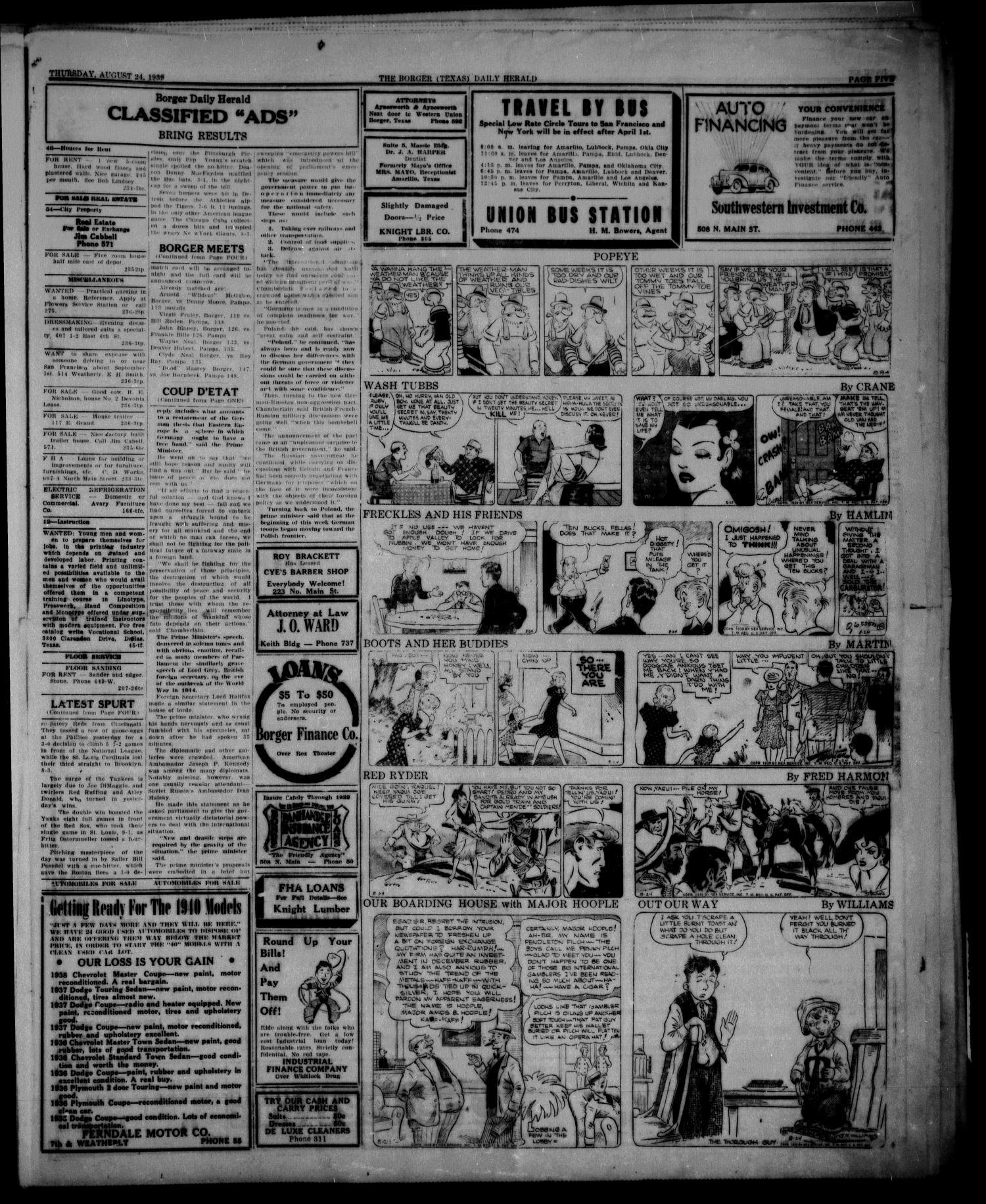 Borger Daily Herald Borger Tex Vol 13 No 236 Ed 1 Thursday