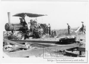 Primary view of object titled '[Threshing Machine Advance Rumley Steam Engine]'.