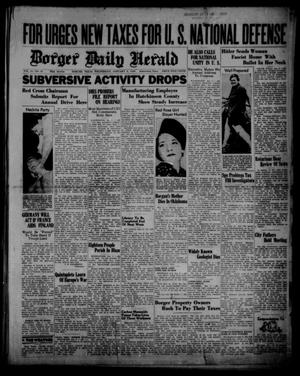 Primary view of object titled 'Borger Daily Herald (Borger, Tex.), Vol. 14, No. 35, Ed. 1 Wednesday, January 3, 1940'.