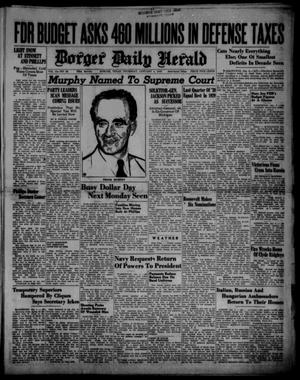 Primary view of object titled 'Borger Daily Herald (Borger, Tex.), Vol. 14, No. 36, Ed. 1 Thursday, January 4, 1940'.
