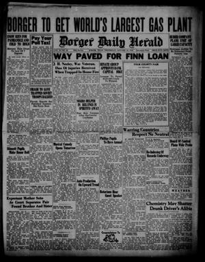 Primary view of object titled 'Borger Daily Herald (Borger, Tex.), Vol. 14, No. 53, Ed. 1 Wednesday, January 24, 1940'.
