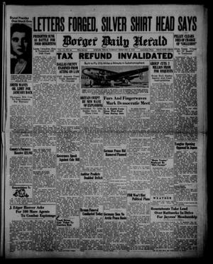Primary view of object titled 'Borger Daily Herald (Borger, Tex.), Vol. 14, No. 64, Ed. 1 Tuesday, February 6, 1940'.