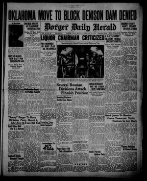 Primary view of object titled 'Borger Daily Herald (Borger, Tex.), Vol. 14, No. 69, Ed. 1 Monday, February 12, 1940'.
