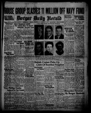 Primary view of object titled 'Borger Daily Herald (Borger, Tex.), Vol. 14, No. 70, Ed. 1 Tuesday, February 13, 1940'.