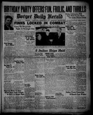 Primary view of object titled 'Borger Daily Herald (Borger, Tex.), Vol. 14, No. 88, Ed. 1 Tuesday, March 5, 1940'.