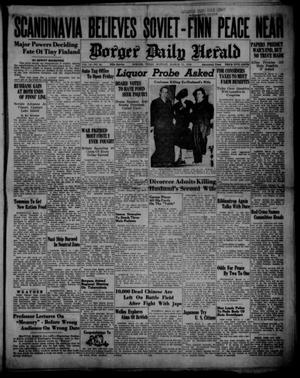 Primary view of object titled 'Borger Daily Herald (Borger, Tex.), Vol. 14, No. 93, Ed. 1 Monday, March 11, 1940'.
