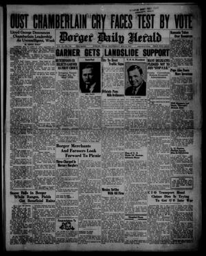 Primary view of object titled 'Borger Daily Herald (Borger, Tex.), Vol. 14, No. 143, Ed. 1 Wednesday, May 8, 1940'.