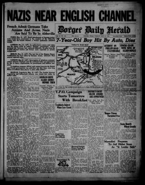 Primary view of object titled 'Borger Daily Herald (Borger, Tex.), Vol. 14, No. 154, Ed. 1 Tuesday, May 21, 1940'.