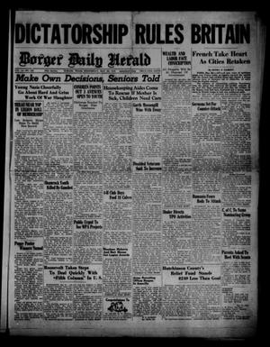 Primary view of object titled 'Borger Daily Herald (Borger, Tex.), Vol. 14, No. 155, Ed. 1 Wednesday, May 22, 1940'.