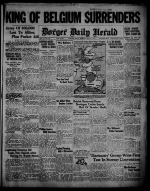 Primary view of object titled 'Borger Daily Herald (Borger, Tex.), Vol. 14, No. 160, Ed. 1 Tuesday, May 28, 1940'.
