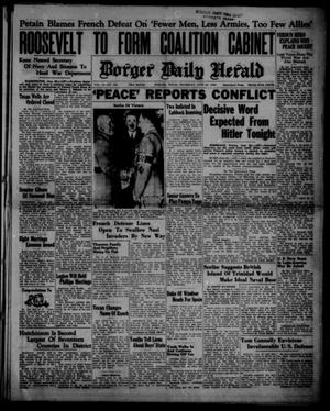 Primary view of object titled 'Borger Daily Herald (Borger, Tex.), Vol. 14, No. 180, Ed. 1 Thursday, June 20, 1940'.