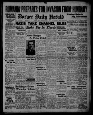 Primary view of object titled 'Borger Daily Herald (Borger, Tex.), Vol. 14, No. 189, Ed. 1 Monday, July 1, 1940'.