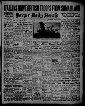 Primary view of object titled 'Borger Daily Herald (Borger, Tex.), Vol. 14, No. 231, Ed. 1 Monday, August 19, 1940'.