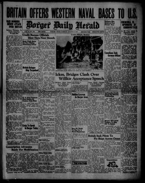 Primary view of object titled 'Borger Daily Herald (Borger, Tex.), Vol. 14, No. 232, Ed. 1 Tuesday, August 20, 1940'.