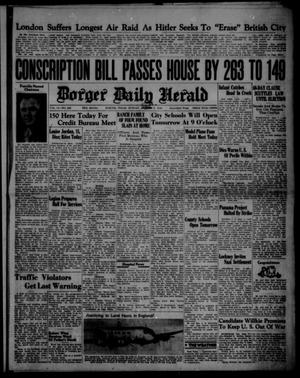 Primary view of object titled 'Borger Daily Herald (Borger, Tex.), Vol. 14, No. 248, Ed. 1 Sunday, September 8, 1940'.
