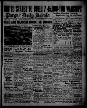 Primary view of object titled 'Borger Daily Herald (Borger, Tex.), Vol. 14, No. 249, Ed. 1 Monday, September 9, 1940'.