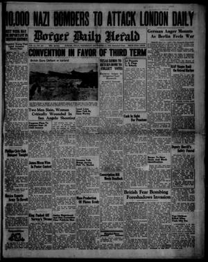 Primary view of object titled 'Borger Daily Herald (Borger, Tex.), Vol. 14, No. 251, Ed. 1 Wednesday, September 11, 1940'.