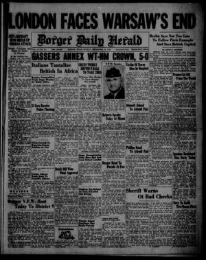 Primary view of object titled 'Borger Daily Herald (Borger, Tex.), Vol. 14, No. 254, Ed. 1 Sunday, September 15, 1940'.
