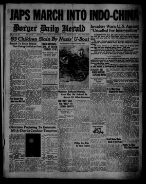 Primary view of object titled 'Borger Daily Herald (Borger, Tex.), Vol. 14, No. 261, Ed. 1 Monday, September 23, 1940'.