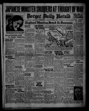 Primary view of object titled 'Borger Daily Herald (Borger, Tex.), Vol. 14, No. 276, Ed. 1 Thursday, October 10, 1940'.