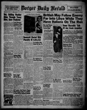 Primary view of object titled 'Borger Daily Herald (Borger, Tex.), Vol. 15, No. 18, Ed. 1 Friday, December 13, 1940'.