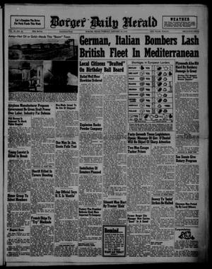 Primary view of object titled 'Borger Daily Herald (Borger, Tex.), Vol. 15, No. 45, Ed. 1 Tuesday, January 14, 1941'.