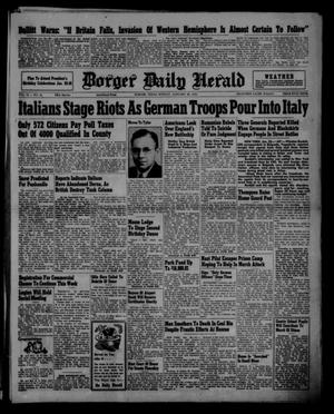 Primary view of object titled 'Borger Daily Herald (Borger, Tex.), Vol. 15, No. 55, Ed. 1 Sunday, January 26, 1941'.