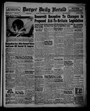 Primary view of object titled 'Borger Daily Herald (Borger, Tex.), Vol. 15, No. 57, Ed. 1 Tuesday, January 28, 1941'.