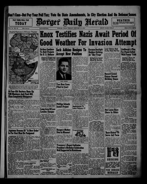 Primary view of object titled 'Borger Daily Herald (Borger, Tex.), Vol. 15, No. 60, Ed. 1 Friday, January 31, 1941'.
