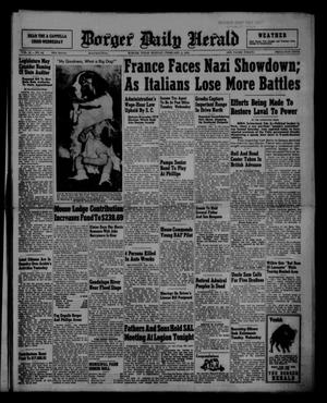 Primary view of object titled 'Borger Daily Herald (Borger, Tex.), Vol. 15, No. 62, Ed. 1 Monday, February 3, 1941'.