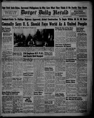 Primary view of object titled 'Borger Daily Herald (Borger, Tex.), Vol. 15, No. 76, Ed. 1 Wednesday, February 19, 1941'.