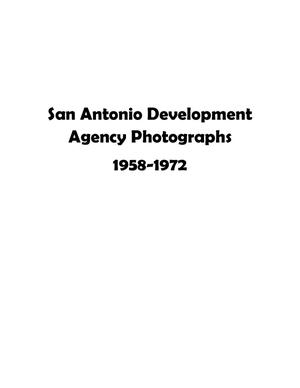 Primary view of object titled 'San Antonio Urban Renewal Project, Book 1'.