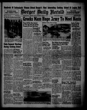 Primary view of object titled 'Borger Daily Herald (Borger, Tex.), Vol. 15, No. 100, Ed. 1 Wednesday, March 19, 1941'.