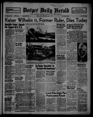 Borger Daily Herald (Borger, Tex.), Vol. 15, No. 166, Ed. 1 Wednesday, June 4, 1941